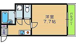 大阪府大阪市東住吉区山坂5丁目の賃貸マンションの間取り