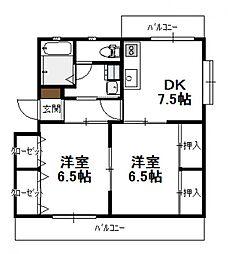 PISO熊野[301号号室]の間取り