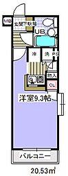 ローズガーデン36番館[1階]の間取り