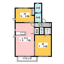 ARCADIA IV[2階]の間取り