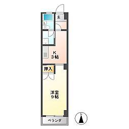 コーポブライト[3階]の間取り