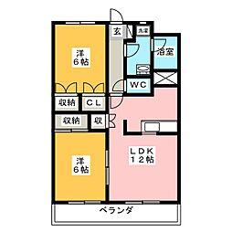 entrain(アントラン)[4階]の間取り