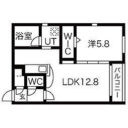 コローレN32ウエスト[2階]の間取り