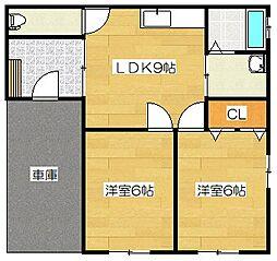 [一戸建] 福岡県筑紫野市紫3丁目 の賃貸【/】の間取り
