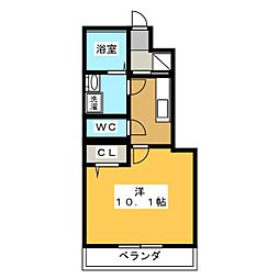 鵜沼東町A様Ⅳ期新築アパート[1階]の間取り