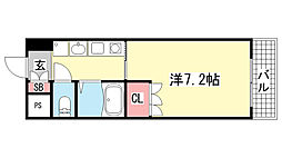 兵庫県神戸市中央区雲井通2丁目の賃貸マンションの間取り