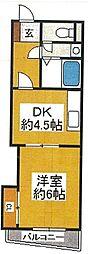 大阪府寝屋川市昭栄町の賃貸マンションの間取り