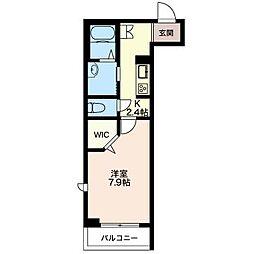 仮)松波シャーメゾン[3階]の間取り