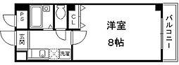 京都府京都市伏見区東大手町の賃貸マンションの間取り