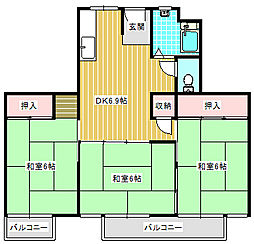 UR住吉団地[1-310号室]の間取り
