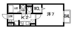パークサイド渋川A棟[102号室号室]の間取り