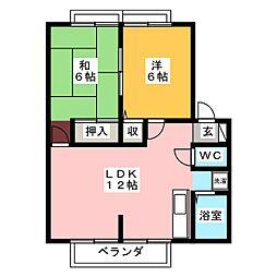 サンライフN神戸[1階]の間取り