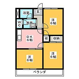 パールロイヤル江島[2階]の間取り