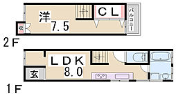 [一戸建] 兵庫県神戸市須磨区外浜町2丁目 の賃貸【兵庫県 / 神戸市須磨区】の間取り