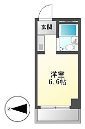 ドール豊[6階]の間取り