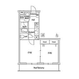 東急東横線 代官山駅 徒歩5分の賃貸マンション 4階1LDKの間取り