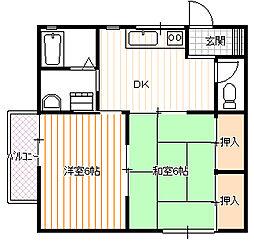 白形アパート[201号室号室]の間取り