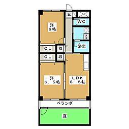 惣武マンション[1階]の間取り