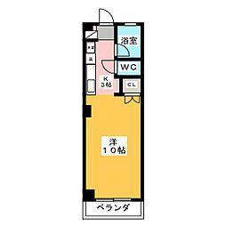 東山サンハイツ[4階]の間取り