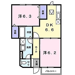 アーバンハイツI[1階]の間取り