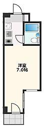リアライズ阪急吹田II 3階1Kの間取り