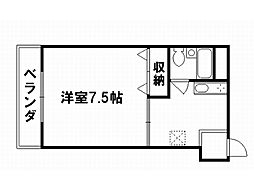 コスモハイツ千本[4階]の間取り