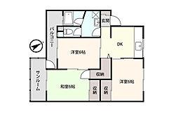 アシスト富山マンション 1階3DKの間取り
