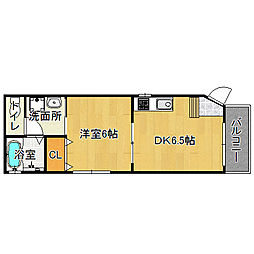 メゾンドOSAKA[1階]の間取り