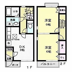 [テラスハウス] 神奈川県藤沢市辻堂新町2丁目 の賃貸【/】の間取り