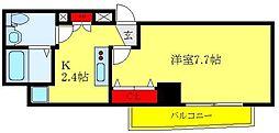 都営三田線 西巣鴨駅 徒歩8分の賃貸マンション 7階1Kの間取り
