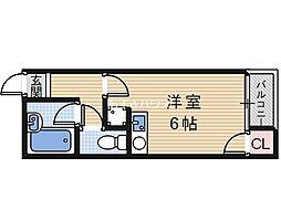 ヴェルヘル生駒I[3階]の間取り