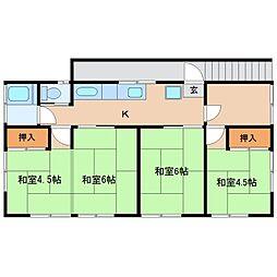 鵠沼桜が岡1丁目アパート[2号室]の間取り