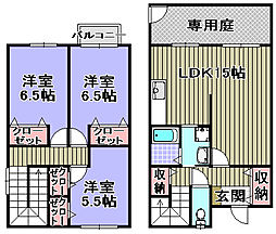 [タウンハウス] 大阪府泉大津市豊中町2丁目 の賃貸【/】の間取り