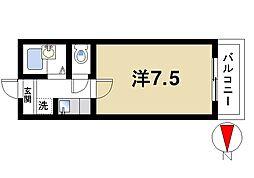 ラ・パストラール[1階]の間取り