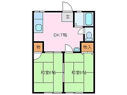 パナハイツ[1階]の間取り