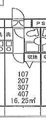 埼玉県さいたま市浦和区針ケ谷2丁目の賃貸マンションの間取り