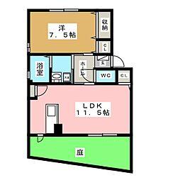 コーポFUJI VI[1階]の間取り