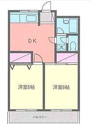 ヴァンヴェール湘南台I[2階]の間取り