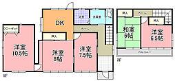 [一戸建] 茨城県水戸市見和3丁目 の賃貸【/】の間取り