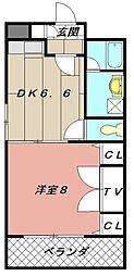 コスモス小倉駅前II[4階]の間取り