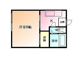 コーポ長沢[2階]の間取り