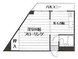 水入マンション 304号室[304号室]の間取り