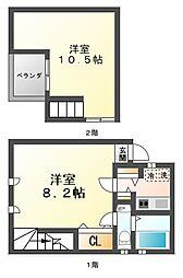 ヌメルスI[2階]の間取り