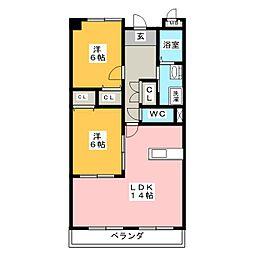 アネックス稲沢駅前[5階]の間取り
