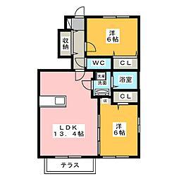 グランドソレイユ[1階]の間取り