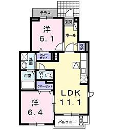 サンレミラティエIII[1階]の間取り