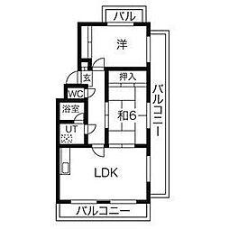 グランドメゾン天子田[3階]の間取り