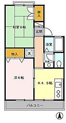 東京都西東京市保谷町5丁目の賃貸アパートの間取り