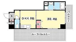 兵庫県神戸市灘区大石東町5丁目の賃貸マンションの間取り