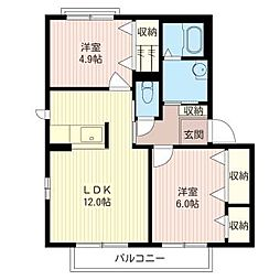 メゾン・ラムールA[2階]の間取り